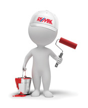 remax man dressed as a painter